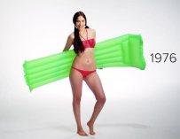 100 ans d'évolution du maillot de bain grâce au body painting