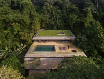 Casa na Mata, maison posée dans la jungle brésilienne