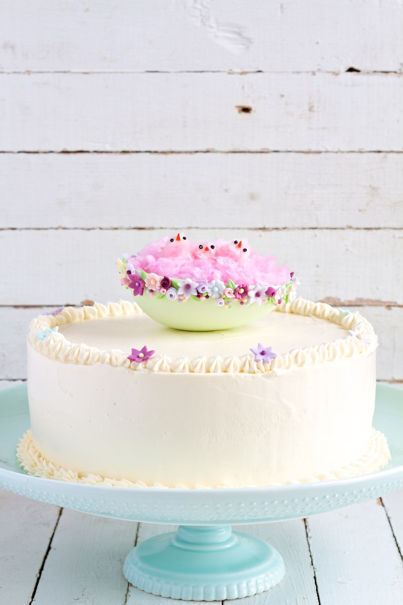 Cake Decorating With Swiss Buttercream : swiss meringue buttercream {easter cake} movita beaucoup