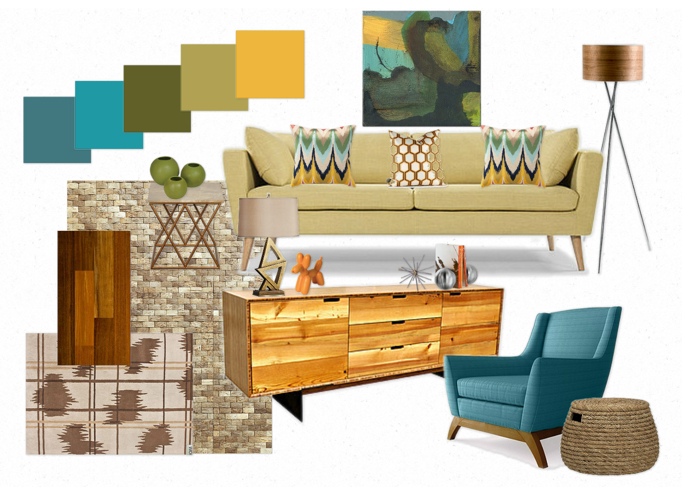 Mid Century Modern Living Room Design Mid Century Modern House Colors