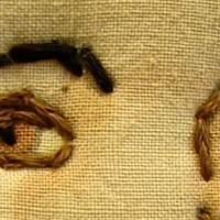 K is for Ken Ellis's Embroidered Textile Art: A-to-Z Challenge