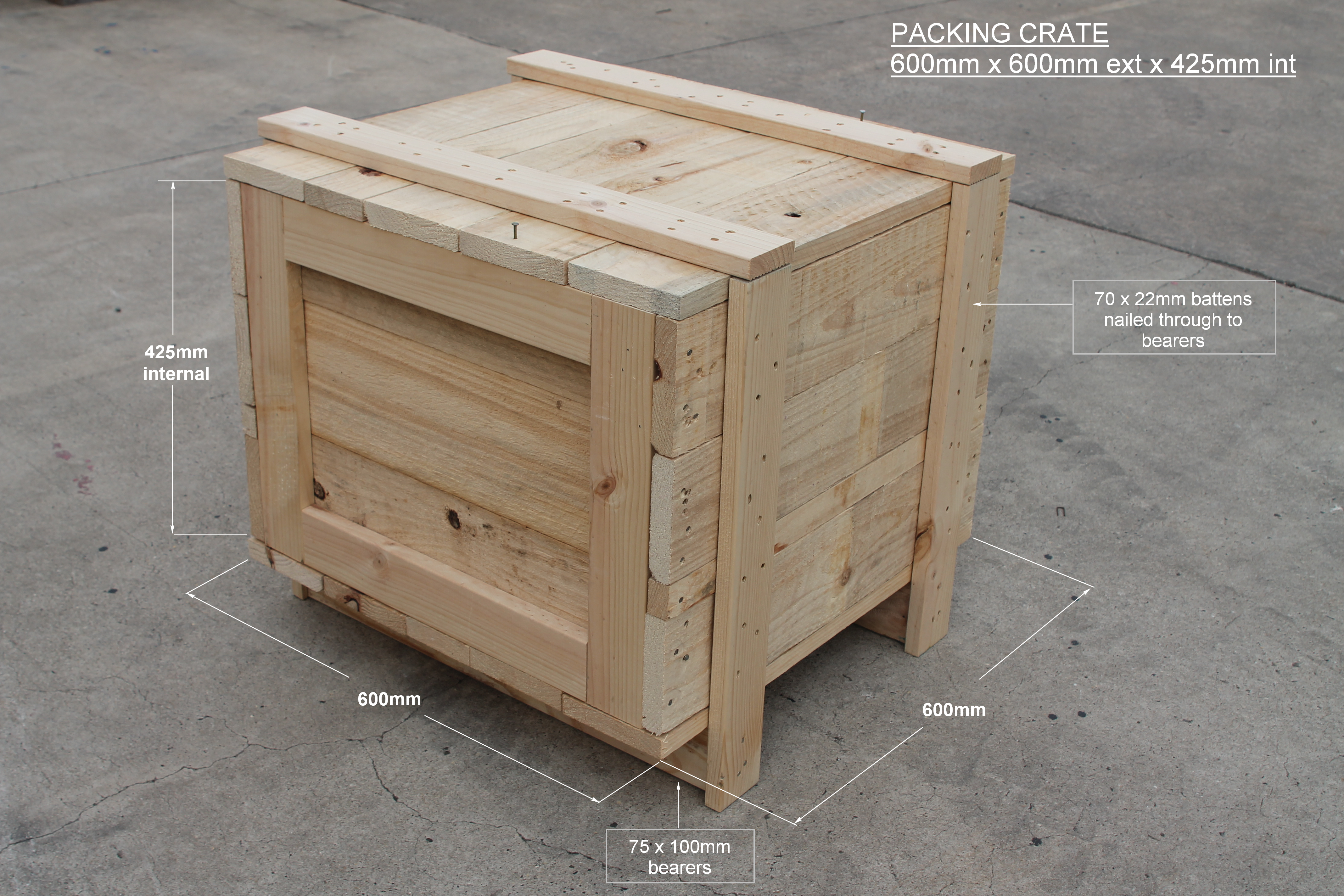 Timber Crates For Sale Packaging Crate Marshall Pine