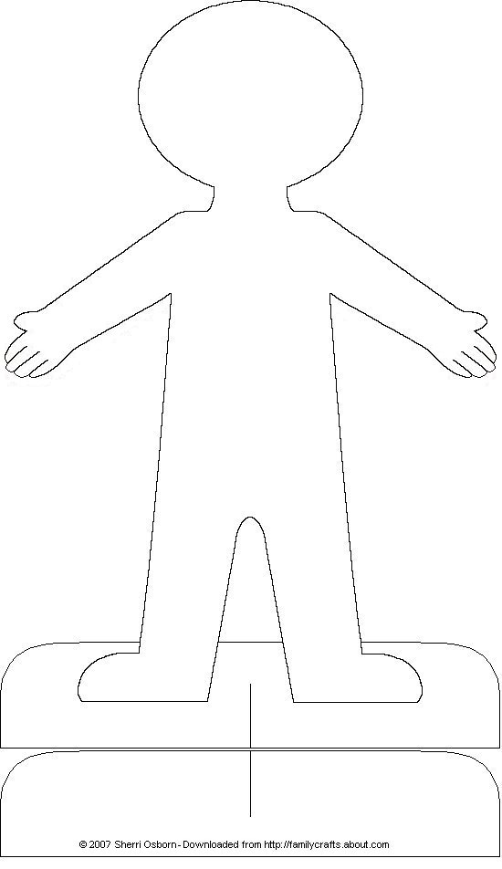paper doll chain template printable body unisex printable paper