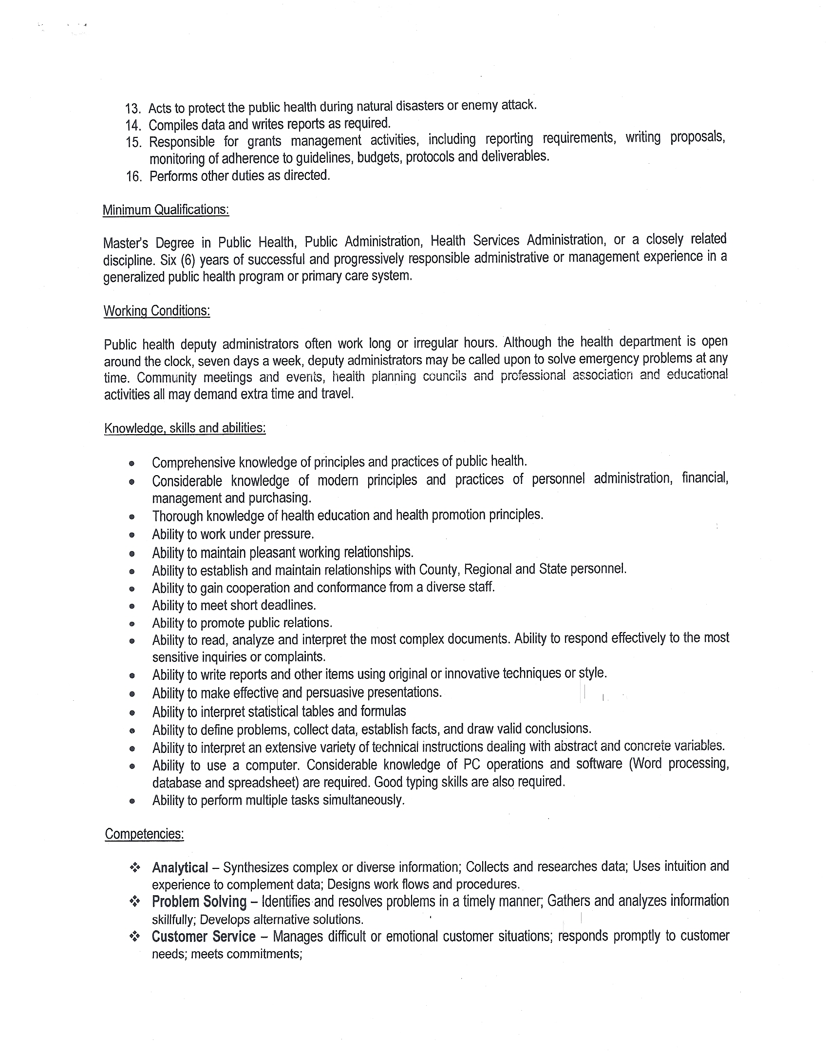 cover letter public health