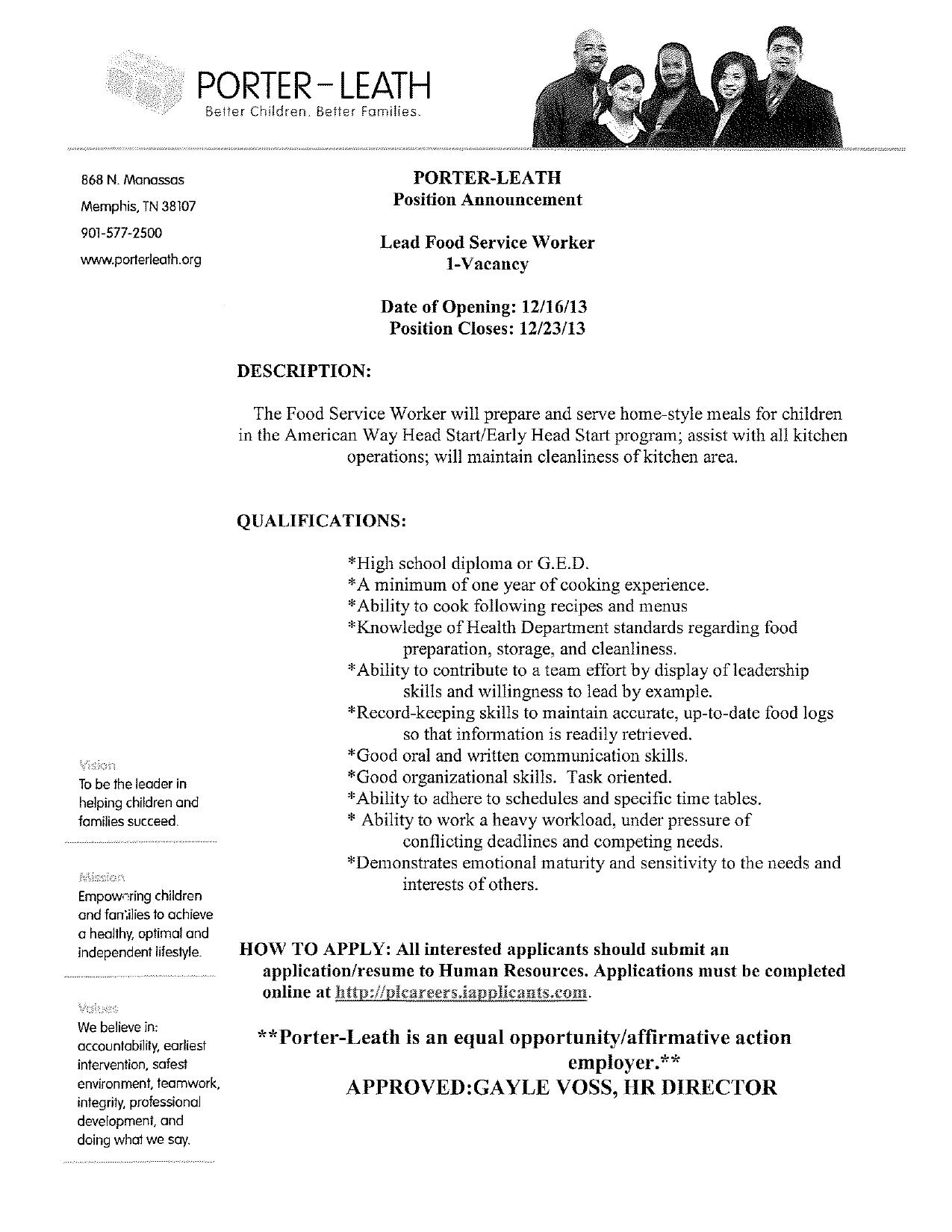 food service resume example 31052017 - Resume Food Service Worker