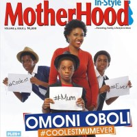 Omoni Oboli &  Her Kids Cover New Edition Of Motherhood In-Style Magazine