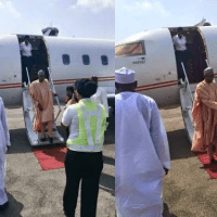 #Nigeria2015: Gen. Buhari Arrives Abuja Ahead Of Results of Presidential Election
