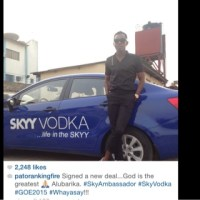 Patoranking Signs deal with Skyy Vodka