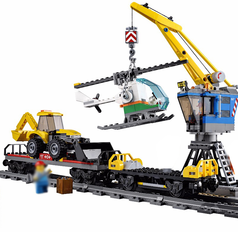 Lepin 02009 City Engineering Remote Control RC Train Model