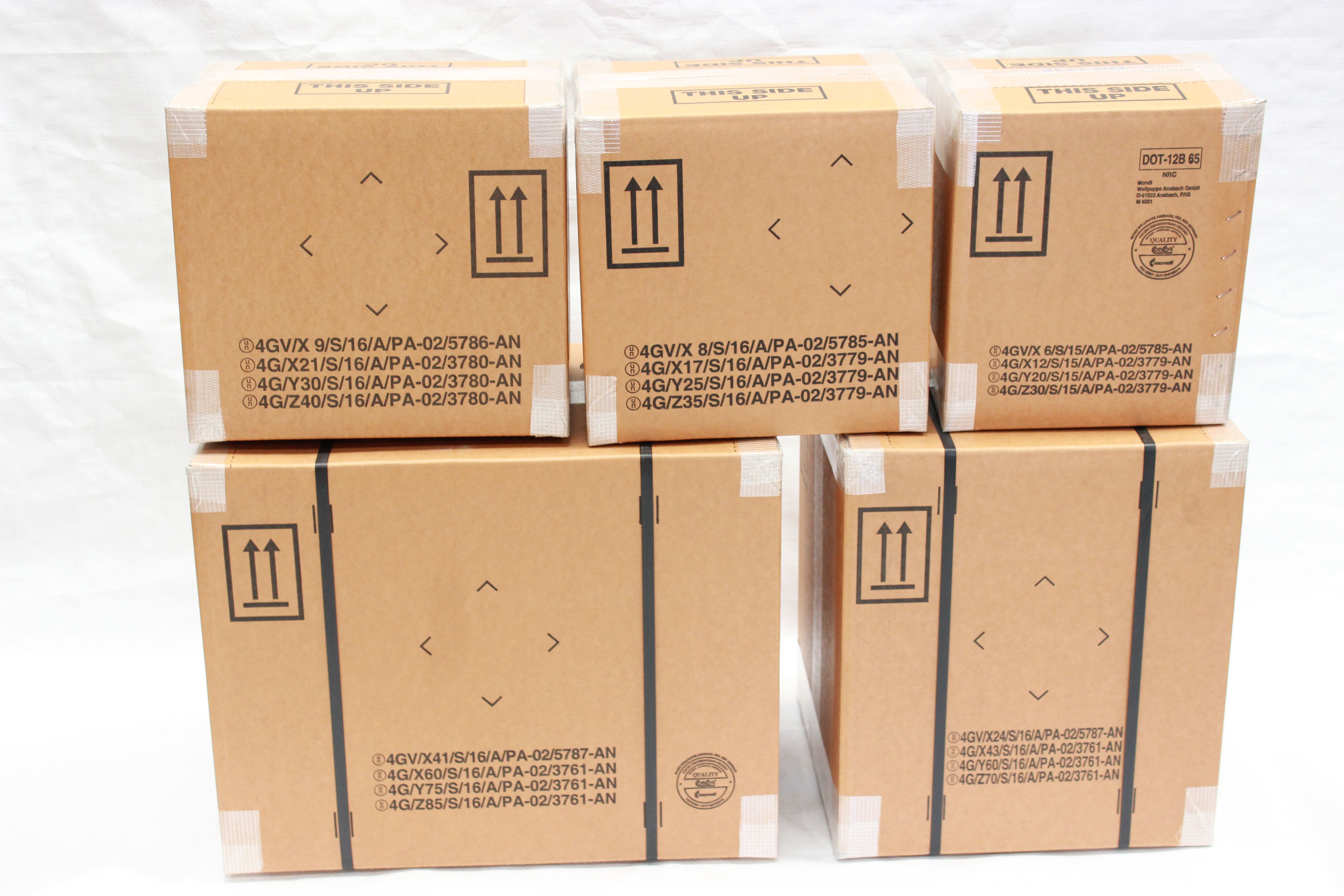 02 Box Un 4g 4gv Fibreboard Boxes And Dangerous Goods Packaging Mps