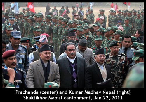 Nepal Maoists in UN cantonments