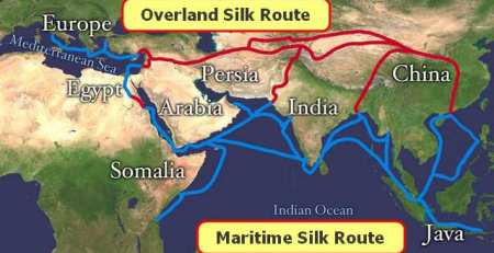 Map-Maritime Silk Road China 1