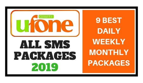 Ufone SMS Packages 2019 - (9 Best Daily Weekly Monthly Packages)