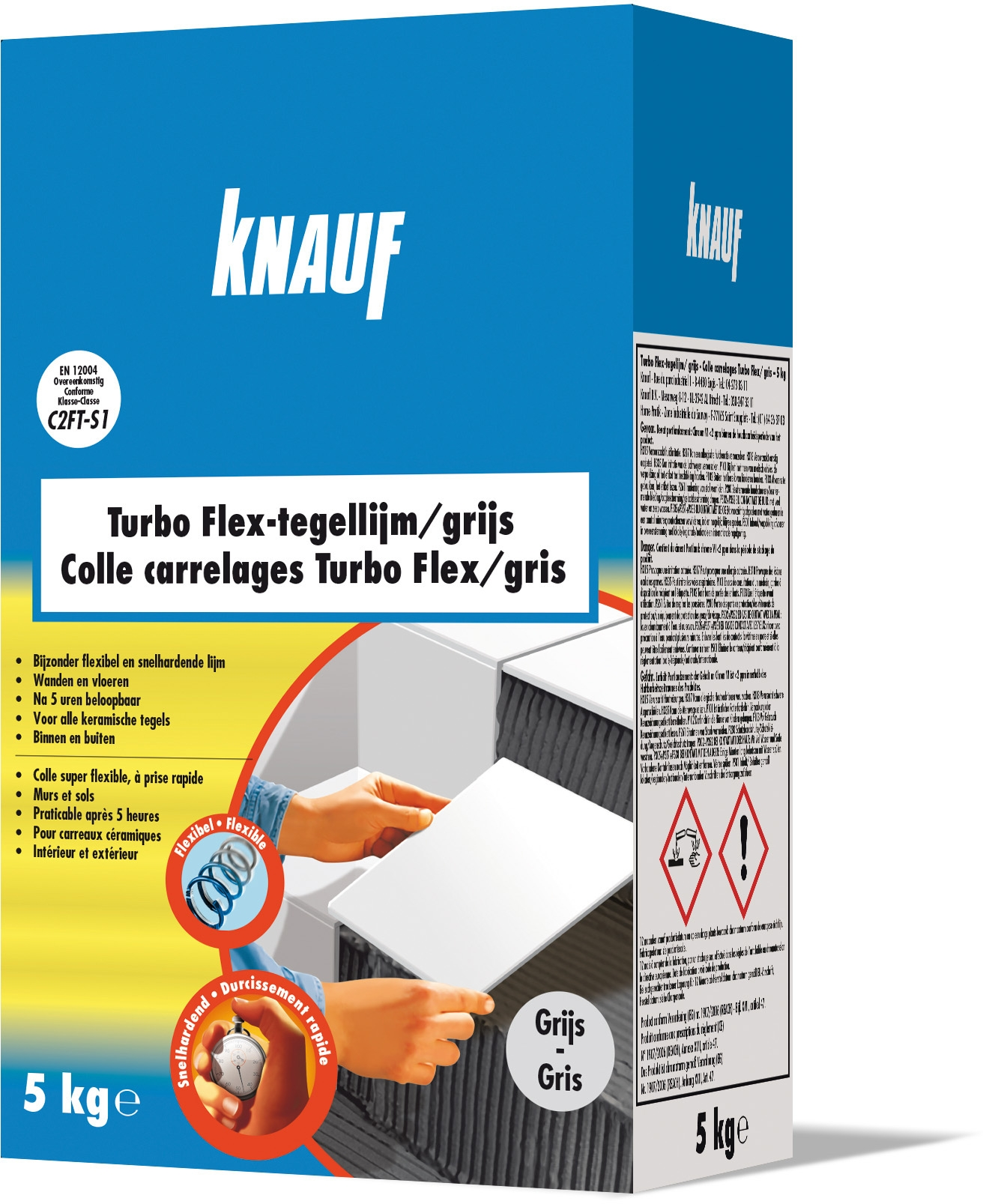 Pose Carrelage Exterieur Barbotine Colle Pour Carrelage Turbo Flex 5 Kg Knauf Mr Bricolage
