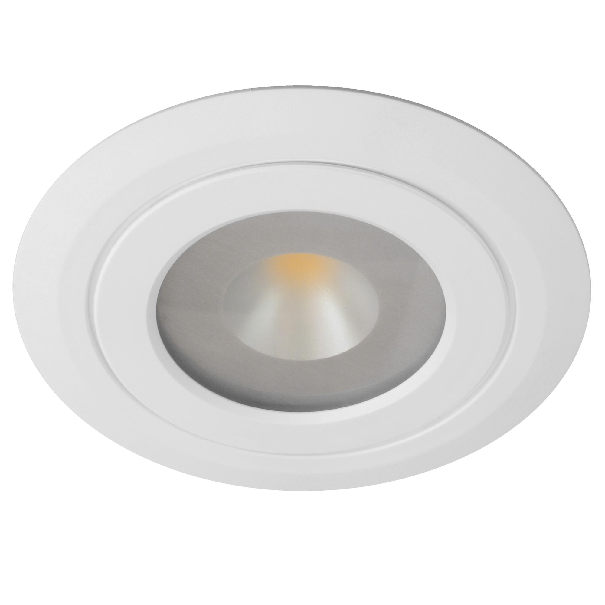 Led Kitchen Cabinet Downlights Led Diva 2 Spot 3000k Warm White 60 24v 4w White Mr