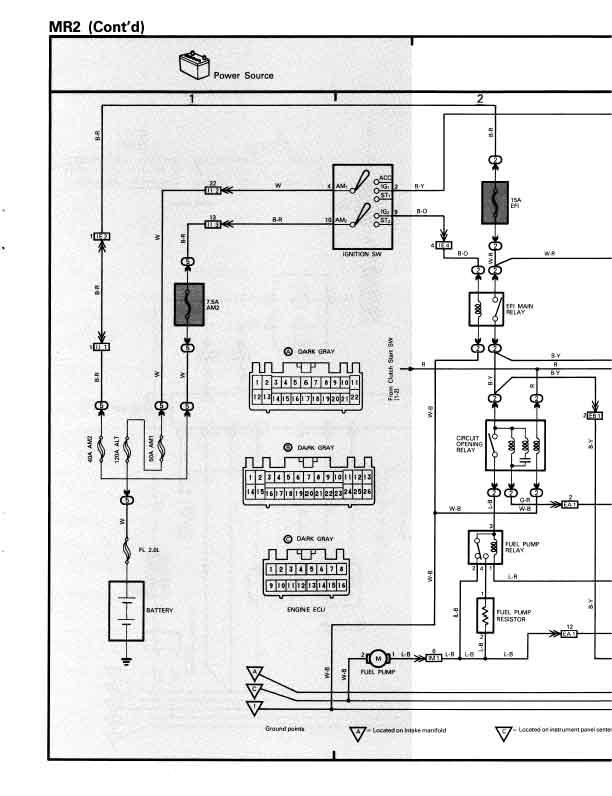 1986 toyota mr2 distributor wiring