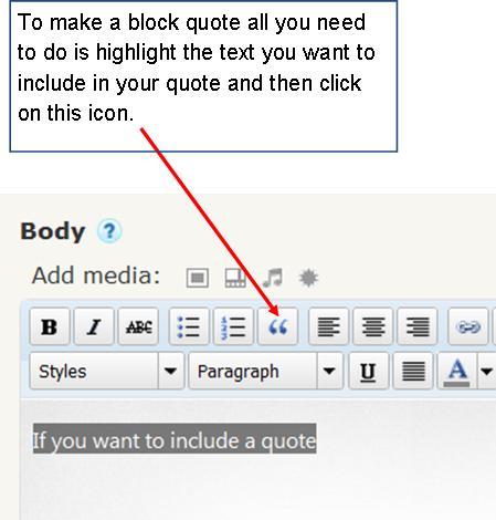 Creating a Blockquote \u2013 Baldock  Grantham Class Blog