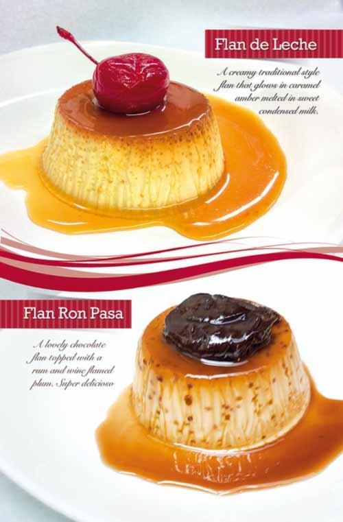 Flan de leche menu Dessert by StudioNQ.com