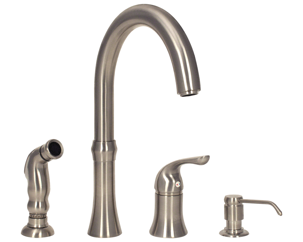 Cool Kitchen Faucet 710 Bn Brushed Nickel 4 Hole Kitchen Faucet
