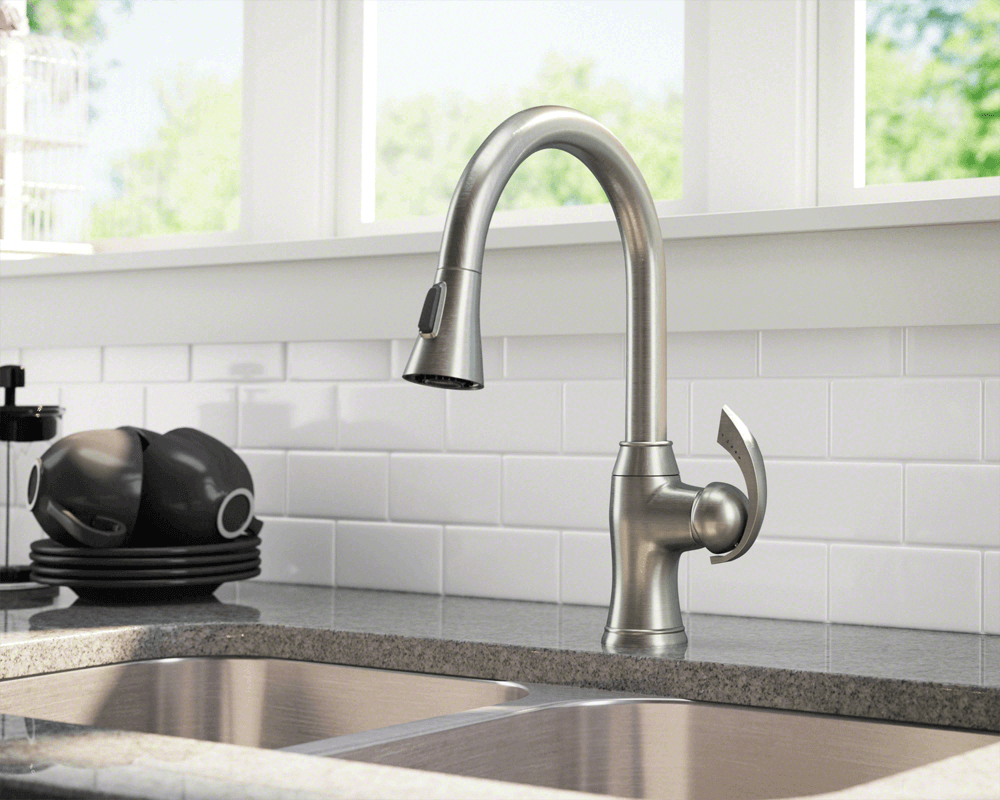 Cool Kitchen Faucet 772 Bn Brushed Nickel Pull Down Kitchen Faucet