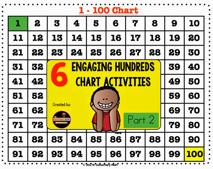 Engaging Hundreds Chart Activities Part 2 - Mr Elementary Math - hundreds chart
