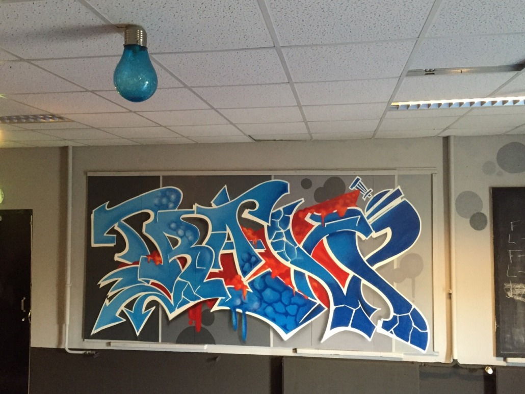 Raalte Interieur Mr Graffiti Interieur Jongerencentrum Traxx Mr Graffiti