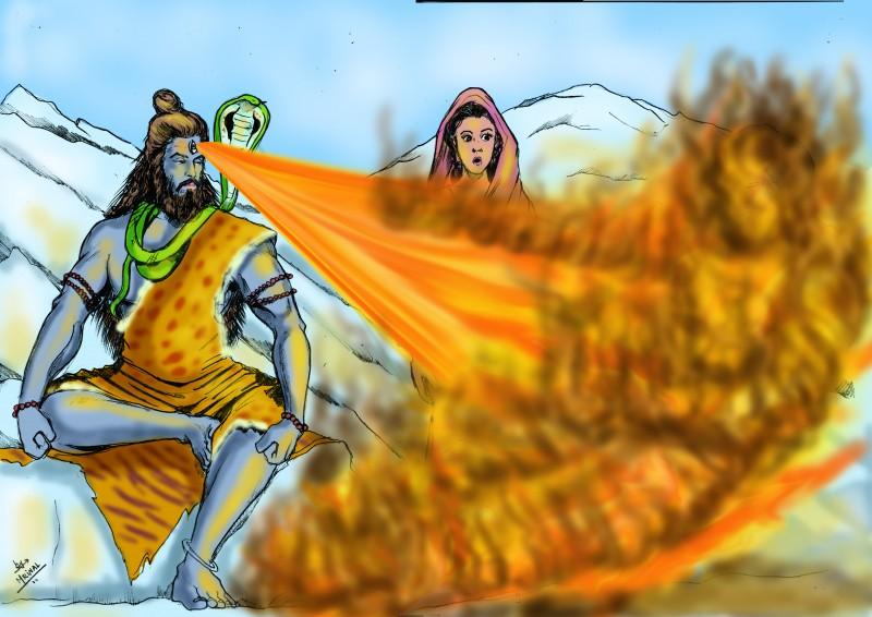 Lord Shiva Angry Wallpapers 3d Hd Lord Shiva And Misfortune Of Kamadeva Chitera