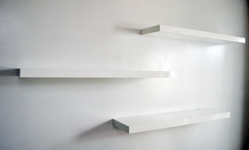 White Floating Shelves Mr. Kate - Design Inspo: Floating Shelves