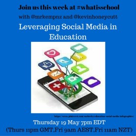 Join us at #whatisschool leveraging social media