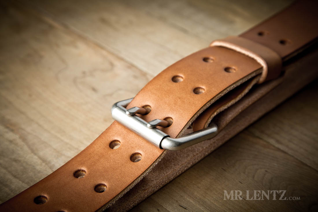 Leather Shop Double Tongue Leather Belt Regular