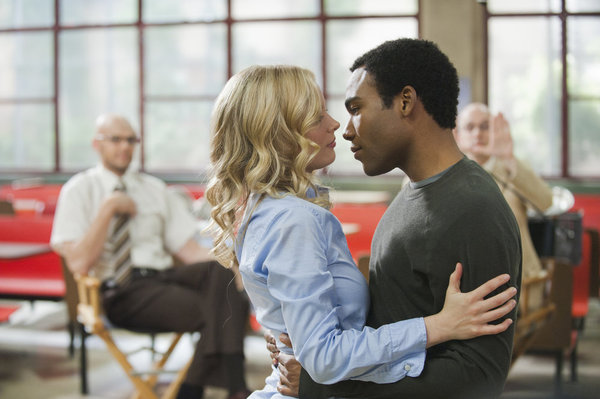 Gillian Jacobs as Britta, Donald Glover as Troy, Community, NBC