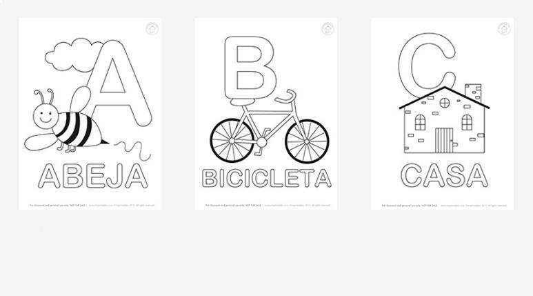 Learn Spanish - Mr Printables - alphabet in spanish