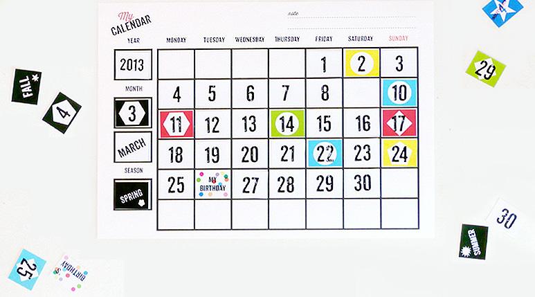 Free Printable Calendars for Children - Mr Printables