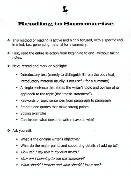 Writing Skills \u2013 Mr Schiffres - what is an objective summary