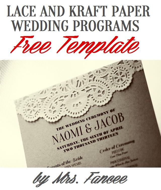Wedding Program Template - Mrs Fancee