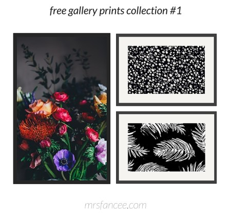 A roundup up of gorgeous and FREE prints along with gallery wall combinations!