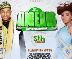 Mr and Miss Nigeria International 2016 registration