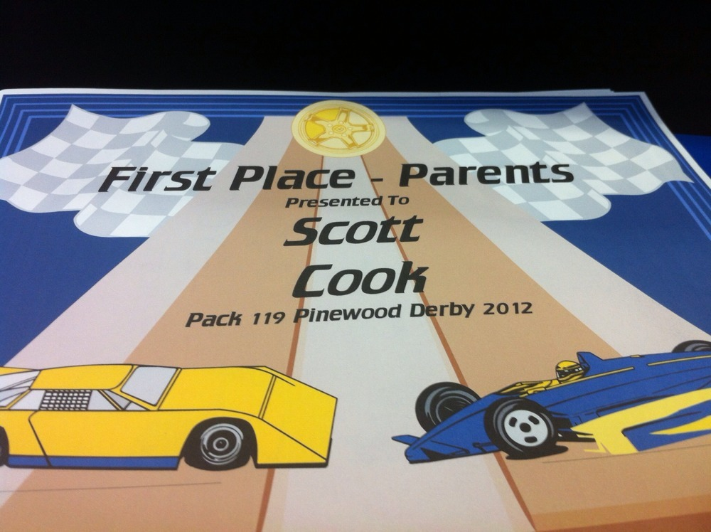 Pinewood Derby!