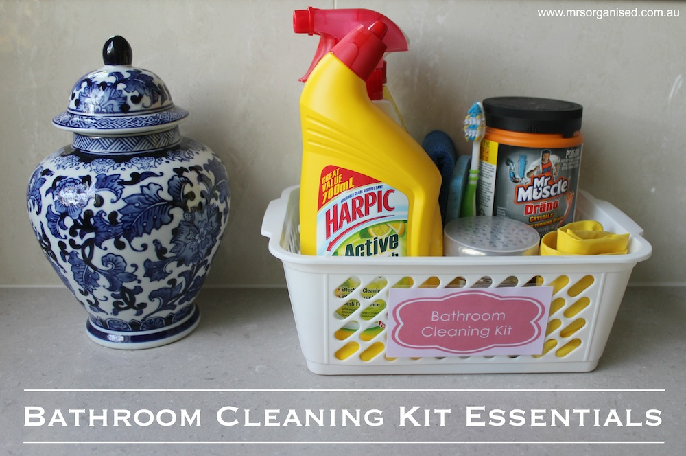 Bathroom Cleaning Kit Essentials