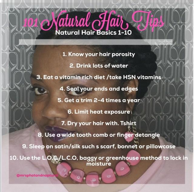 101 Natural Hair Tips