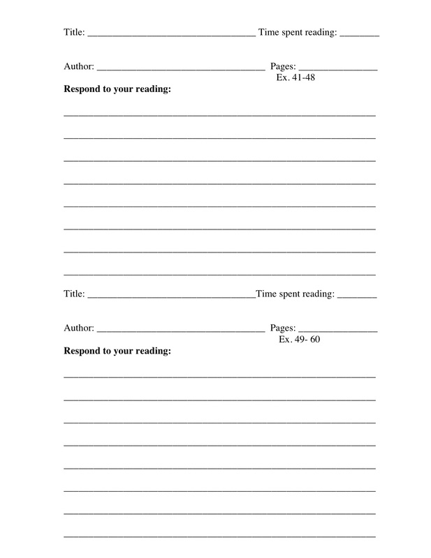 Reading Log Template - Mrs Ward\u0027s Classroom - Reading Log Template