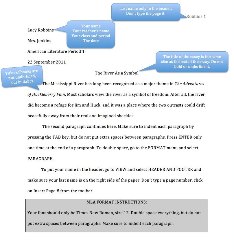 mla format example high school - Peopledavidjoel