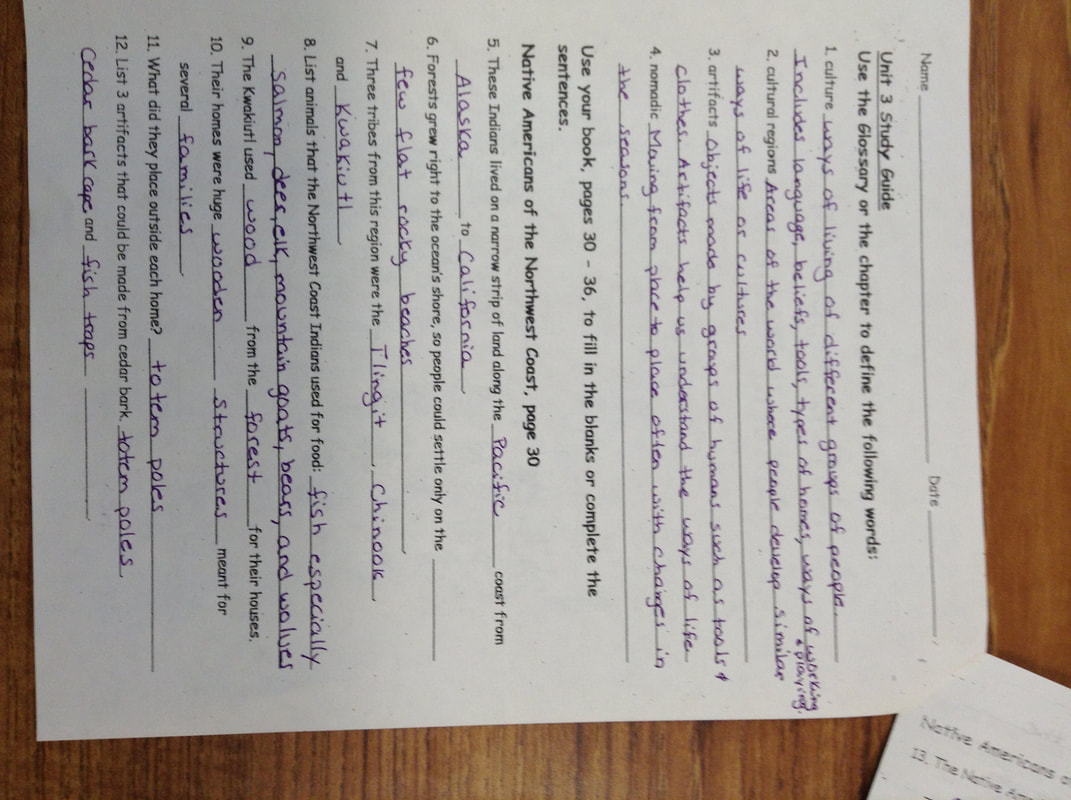 Study Guide 3 Social Studies Chapter 3 Study Guide Mrs Stevens 4th Grade Website