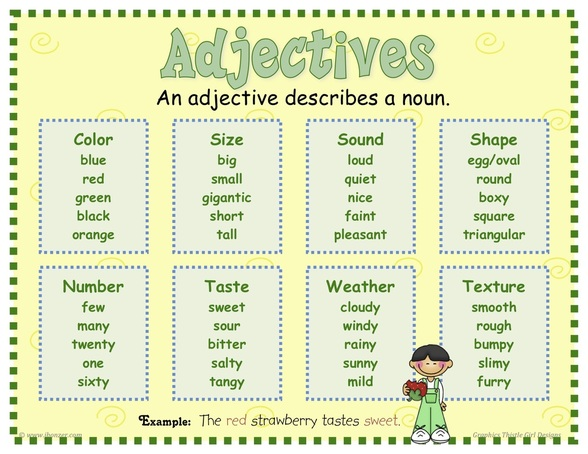 Adjectives Mrs Warner39s Learning Community