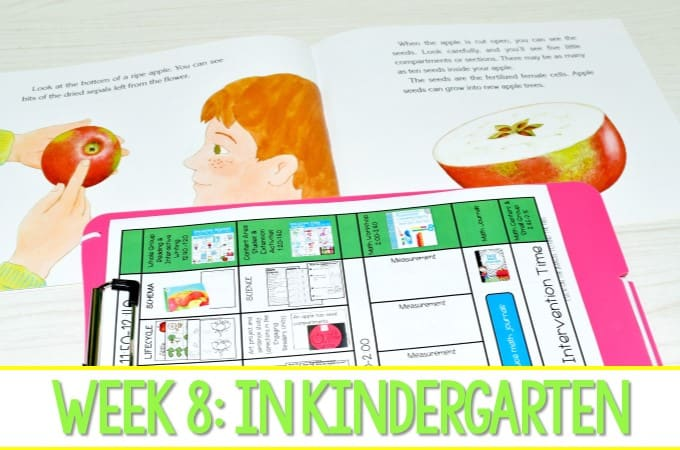 Kindergarten Lesson Plans Week 8