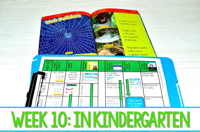 Kindergarten Lesson Plans Week 10