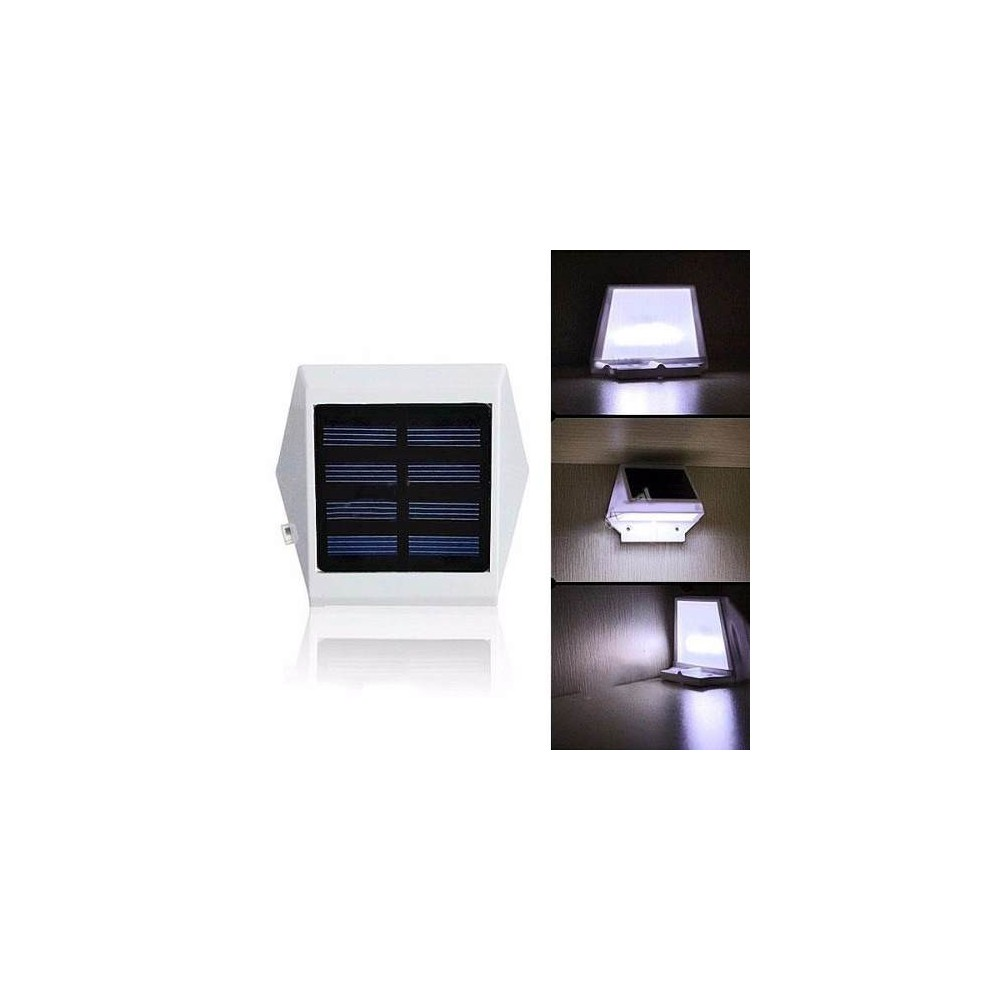 Lampara Exterior Pared 3 Lamparas Solar Recargable Pared 4 Leds Jardin O Exterior