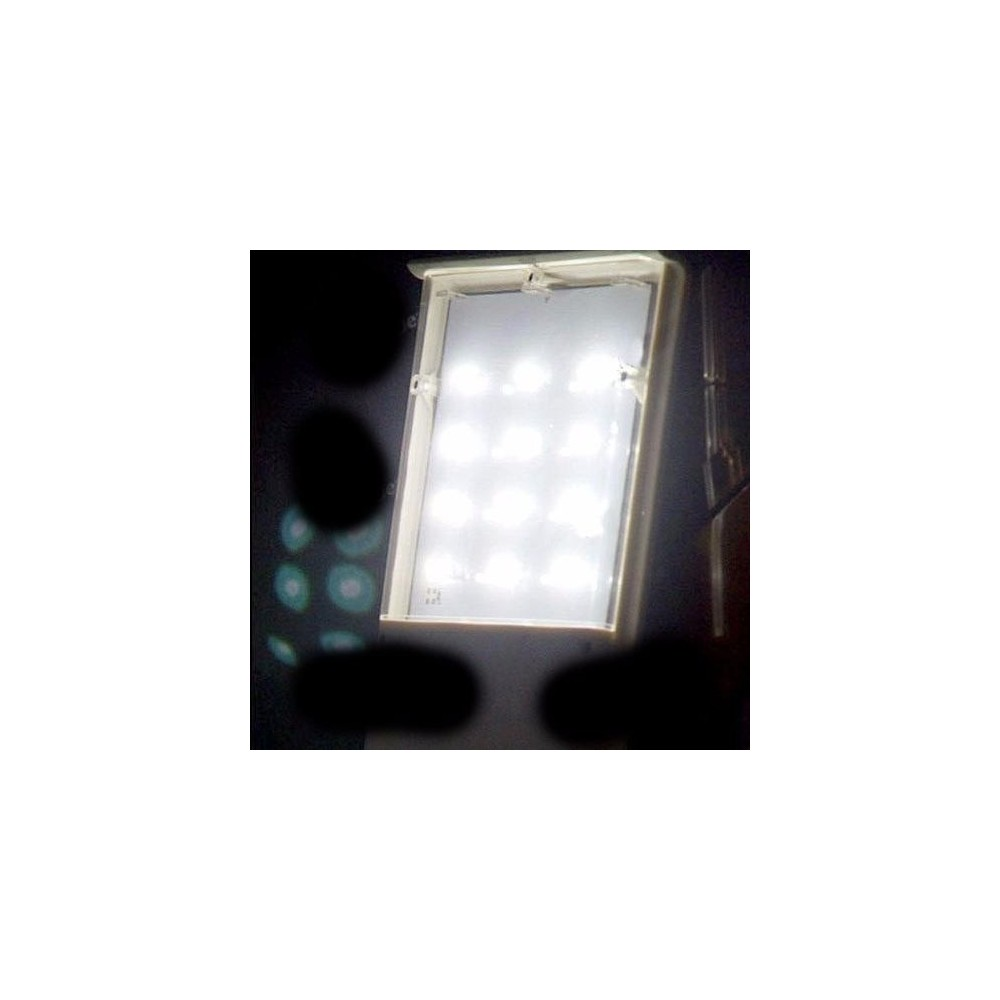 Lampara Exterior Pared Lampara Solar Recargable De Pared 12 Leds Jardin O Exterior