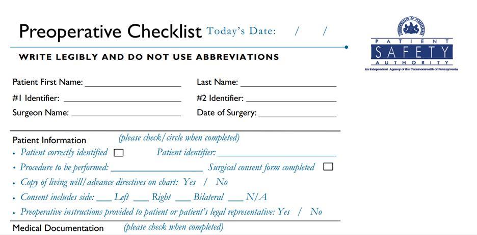 Creating a Surgical Checklist in SharePoint Online mrwombatblog - creating checklist