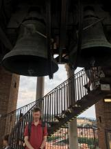 John under the bell on the Torre Lamberti, which had just struck the hour. Luckily it was only one o'clock